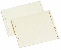 ORDNERALFABET KARTON A15AZ CLASSEX A5 2-GTS