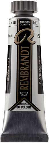 REMBRANDT OLIEVERF TUBE 15 ML 103 GEMENGD WIT