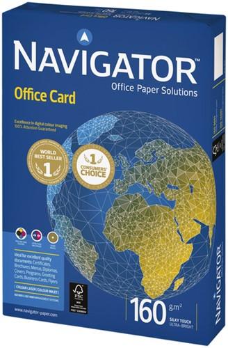 KOPIEERPAPIER NAVIGATOR OFFICE CARD A4 160GR WIT 250 Vel