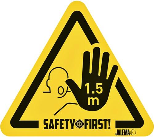 WAARSCHUWINGSSTICKER JALEMA HAND AFSTAND GL/ZW 4 Stuk