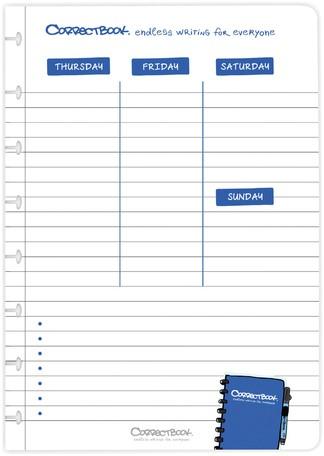 CORRECTBOOK A5 LOSSE PLANNER PAGINA'S 5 Stuk