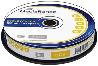 DVD+RW MEDIARANGE 4.7GB REWRITABLE CAKE 10 10 Stuk