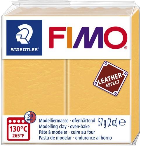 KLEI FIMO STAEDTLER LEATHER EFFECT 57GR SAFFR GL 1 Stuk