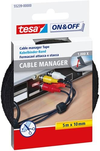 KABELMANAGER TESA 55239 ON&OFF SMALL 10MM X 5M ZWART