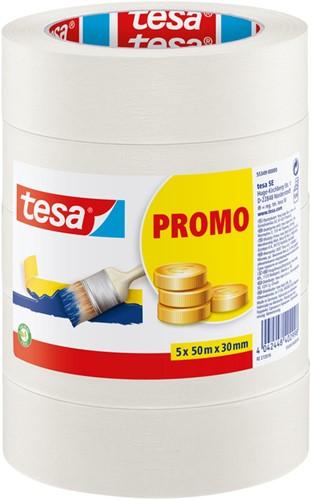 AFPLAKTAPE TESA 55349 BASIC PROMO 50MMX50M 5STUKS