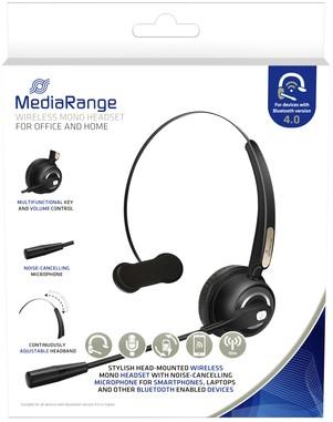 HEADSET MEDIARANGE HP-116 H520 MONO ZWART 1 Stuk