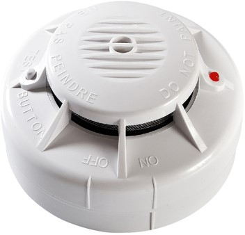 Draadloos koppelbare rookmelder incl. 3V batterij 1 Stuk