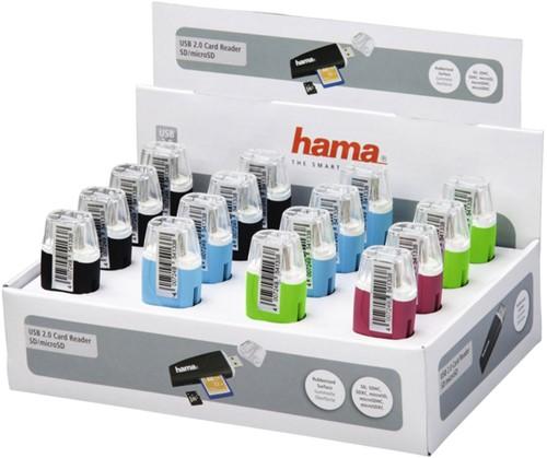Kaartlezer Hama USB SD en Micro SD assorti 1 Stuk