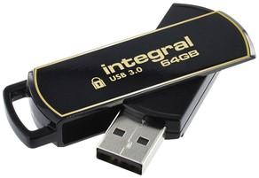 USB-stick Integral 3.0 Secure 360 64GB zwart 1 Stuk