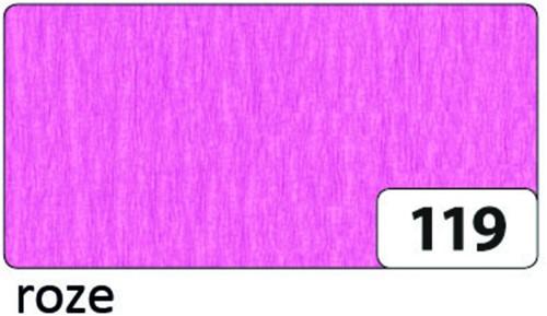 CREPEPAPIER FOLIA 250X50CM NR119 ROZE 1 Stuk