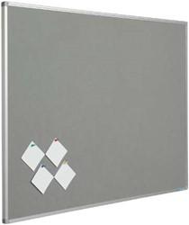 Prikbord 90x120cm met vilt grijs