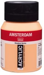 AMSTERDAM ACRYL 500 ML 224 NAPELS GEEL ROOD
