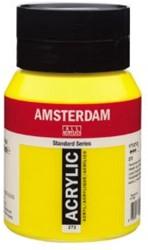AMSTERDAM ACRYL 500 ML 272 TRANSPARANT GEEL MIDDEL