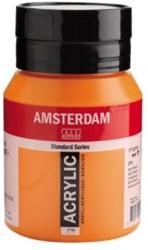 AMSTERDAM ACRYL 500 ML 276 AZO ORANJE