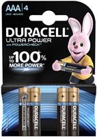 BATTERIJ DURACELL AAA ULTRA POWER MX2400 ALKALINE 4 STUK
