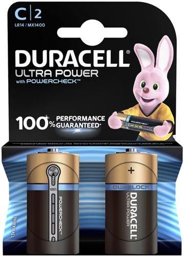 BATTERIJ DURACELL C ULTRA POWER MX1400 ALKALINE 2 STUK