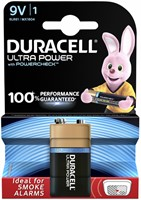 BATTERIJ DURACELL 9V ULTRA POWER MX1604 ALKALINE 1 STUK