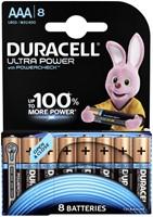 BATTERIJ DURACELL AAA ULTRA POWER ALKALINE 8-PACK 8 STUK