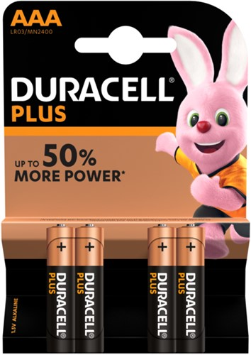 BATTERIJ DURACELL AAA PLUS POWER PK.4