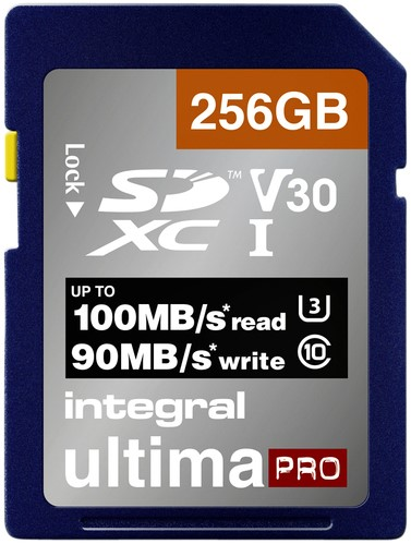 GEHEUGENKAART INTEGRAL SDXC V30 256GB 1 Stuk