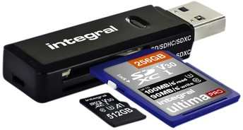 CARD READER INTEGRAL SD MICRO SD USB 3.1 1 Stuk
