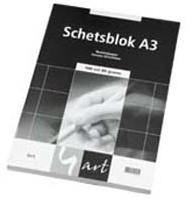 SCHETSBLOK 4ART A3 80GRS. 100 VEL 001019