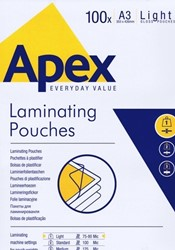 LAMINEERHOES APEX A3 303X426MM 125 MICR. PK. 100ST