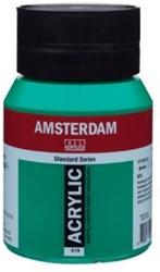 AMSTERDAM ACRYL 500 ML 619 PERMANENT GROEN DONKER