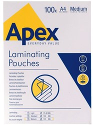 LAMINEERHOES APEX A4 216X303MM 125MIC PK.100ST