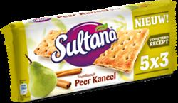 FRUITBISCUIT SULTANA PEER/KANEEL 5X3 STUKS