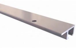 Stas - u-rail zwart 300 cm (8 gaten per meter)