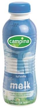 CAMPINA HALFVOLLE MELK PETFLES 0.5 LTR