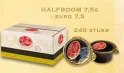 KOFFIEMELK CUPS HALFROOM 7.5 GRAM VAN CROMBRUGGE DS.240