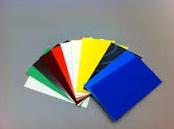Polystyreen blauw glans 2 mm 24.5x25.5 cm