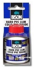 BISON HARD PVC LIJM 100 ML FLACON+KWASTJE
