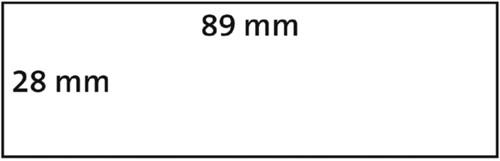 LABEL ETIKET DYMO 99010 89MMX28MM ADRES 260ST 2 ROL-3