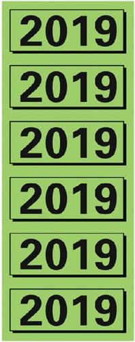 RUGETIKET ELBA 2019 JAARETIKET GROEN 120 Stuk