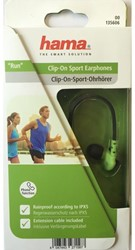 HEADSET HAMA SPORT CLIP-ON RUN GROEN/ZWART 1 STUK
