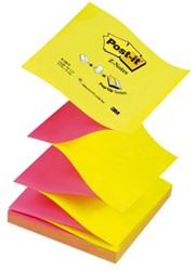 MEMOBLOK 3M POST-IT Z-NOTE N330 NEON ROZE/GEEL 100 VEL