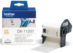 LABEL ETIKET BROTHER DK-11207 58MM CD/DVD WIT 100 LABEL