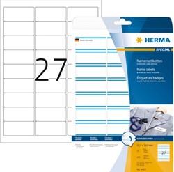 NAAMBADGE ETIKET HERMA 4419 63.5X29.6MM 675ST ZELFKL 25 VEL