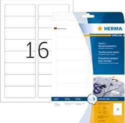 NAAMBADGE ETIKET HERMA 4420 TEXTIEL 88.9X33.8MM 400ST WT 25 VEL