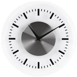 WANDKLOK UNILUX KLOK ON TIME 30.5CM GRIJS 1 STUK