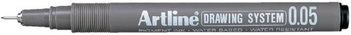 FINELINER ARTLINE TECHNISCH 0.05MM ZWART 1 Stuk