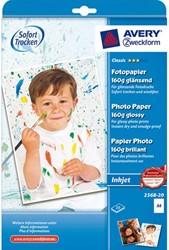 FOTOPAPIER AVERY 2568 A4 160GR HOOG GLANS 20 VEL