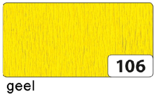 CREPEPAPIER FOLIA 250X50CM NR106 GEEL 1 Stuk