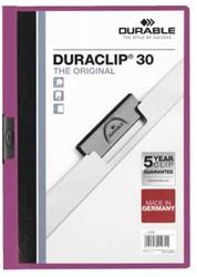 KLEMMAP DURABLE 2200 A4 PL/TR 3MM LILA 1 STUK
