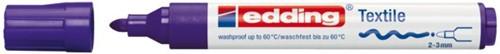 VILTSTIFT EDDING 4500 TEXTIEL ROND 2-3MM BLAUW 1 STUK