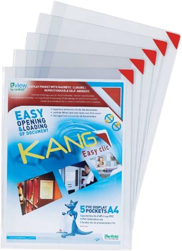 PRESENTEERHOES KANG EASY CLIC SIGNAGE A4 5 Stuk
