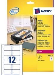 ETIKET AVERY L7671-25 76.2X46.4MM VIDEO 300ST 25 VEL